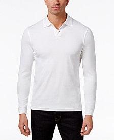 Tasso Elba Men's Supima® Blend Long-Sleeve Polo, Created for Macy's