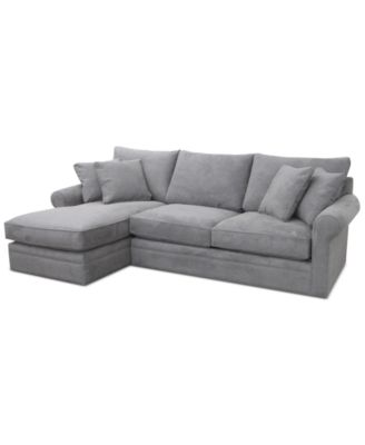 Doss II 2-Pc. Fabric Reversible Chaise Sectional Sofa