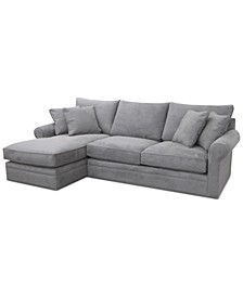 CLOSEOUT! Doss II 2-Pc. Fabric Chaise Sectional Sofa