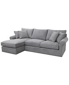 Doss II 2-Pc. Fabric Chaise Sectional Sofa