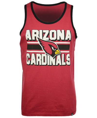 '47 Brand Men's Arizona Cardinals Team Stripe Crosstown Tank