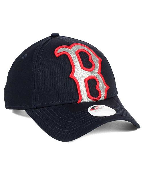... Strapback Cap  New Era Women s Boston Red Sox Glitter Glam 9FORTY  Strapback ... fb2e77ec1a3b
