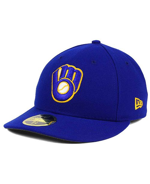 New Era Milwaukee Brewers Low Profile AC Performance 59FIFTY Cap