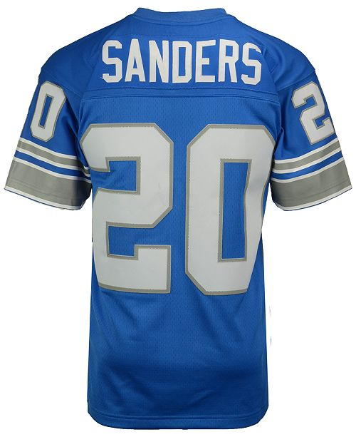 purchase cheap e5488 bce5a Men's Barry Sanders Detroit Lions Replica Throwback Jersey