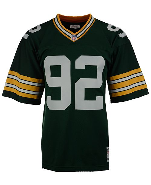 sneakers for cheap 3e9c7 50290 Men's Reggie White Green Bay Packers Replica Throwback Jersey