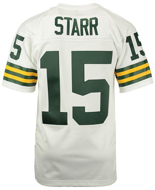 the best attitude e21c7 b2191 Men's Bart Starr Green Bay Packers Replica Throwback Jersey