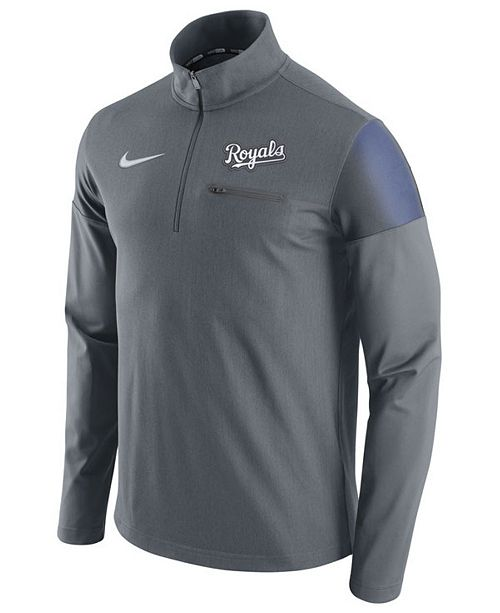 a6e5f99ff Nike Men s Kansas City Royals Half-Zip Elite Pullover - Sports Fan ...