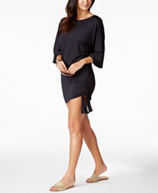 MICHAEL Michael Kors Side-Tie Tunic Cover-Up
