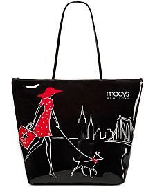 Macy's Walking Dog Large Tote, Created for Macy's