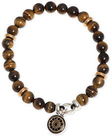 R.T. James Two-Tone Brown Beaded Stretch Bracelet, Created for Macy's