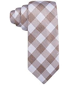 Tasso Elba Men's Catania Check Tie, Created for Macy's