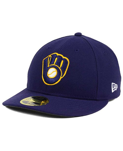 d6eac4cd5c8 ... New Era Milwaukee Brewers Low Profile AC Performance 59FIFTY Cap ...