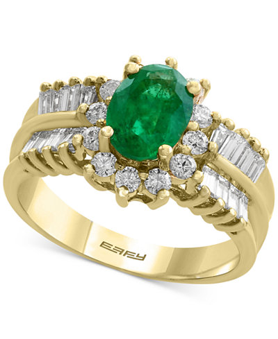 Brasilica by EFFY® Emerald (1-1/8 ct. t.w.) and Diamond (7/8 ct. t.w.) Ring in 14k Gold
