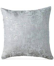 "Refresh Metallic-Print 16"" Square Decorative Pillow"