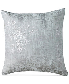 "DKNY Refresh Metallic-Print 16"" Square Decorative Pillow"