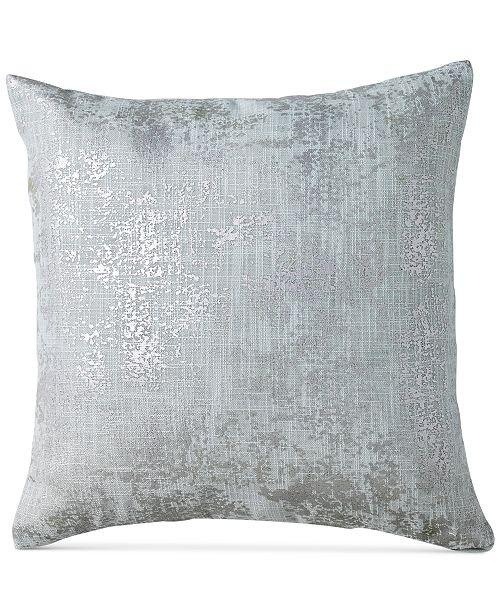 DKNY Refresh MetallicPrint 40 Square Decorative Pillow Enchanting Dkny Decorative Pillows