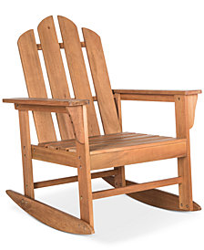 Adda Outdoor Adirondack Rocking Chair, Quick Ship