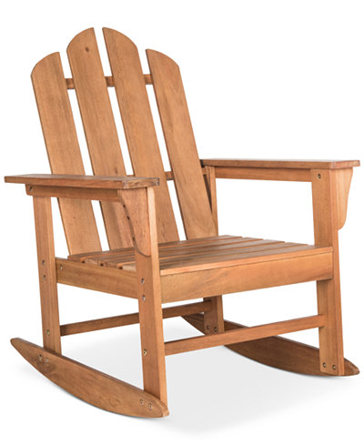 Adda Outdoor Adirondack Rocking Chair, Quick Ship