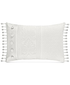 "J Queen New York Bianco 15"" x 21"" Boudoir Decorative Pillow"