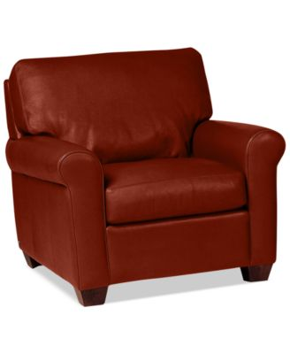 Martha Stewart Collection Leather Recliner Chair Bradyn