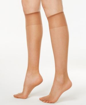 Image of Hanes Silk Reflections Knee Highs Silky sheers 725