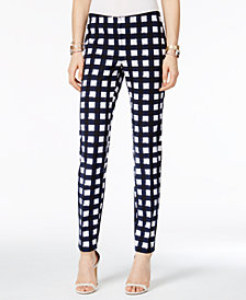 Alfani Printed Straight-Leg Pants, Created for Macy's