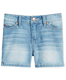 Celebrity Pink Faded Denim Shorts, Big Girls