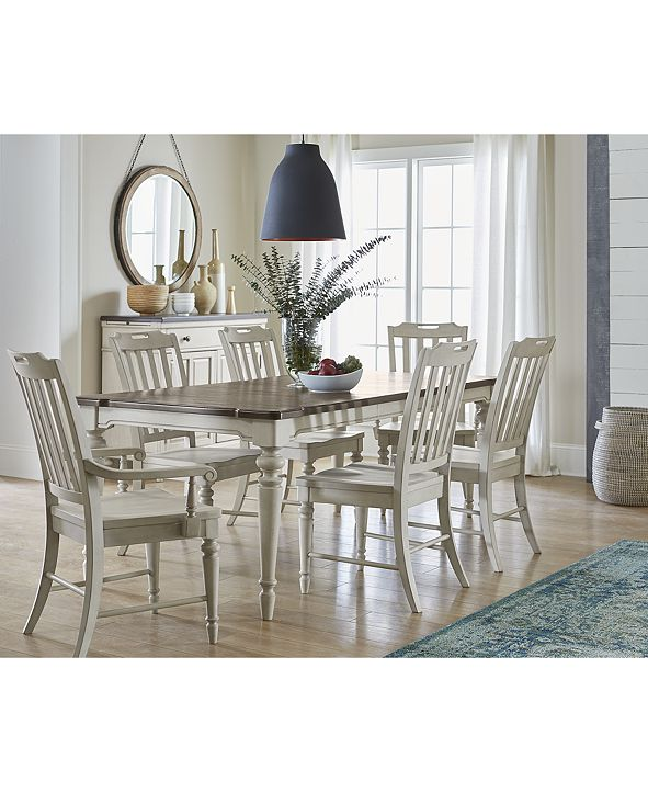 Furniture Barclay Expandable Dining Furniture, 7-Pc. Set (Dining Table, 4 Upholstered Side Chairs & 2 Upholstered Arm Chairs)