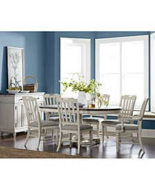 Barclay Expandable Round Pedestal Dining, 7-Pc. Set (Round Dining Pedestal Table, 4 Upholstered Side Chairs & 2 Upholstered Arm Chairs)