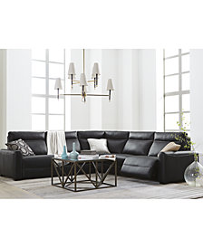 Marzia Leather Power Reclining Sectional & Sofa Collection, Created for Macy's