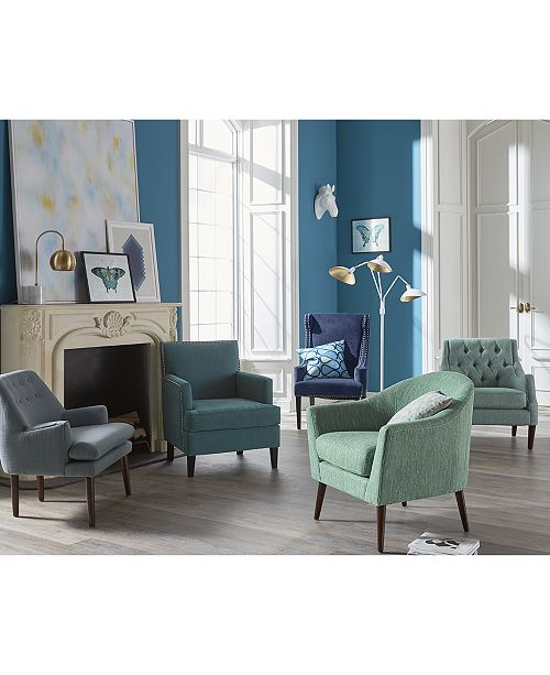 Furniture Glenis Tufted Accent Chair Quick Ship Amp Reviews
