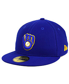 New Era Kids' Milwaukee Brewers Authentic Collection 59FIFTY Cap