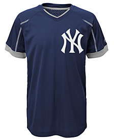 Majestic New York Yankees Emergence Crew T-Shirt, Big Boys (8-20)