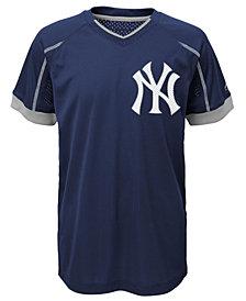 Majestic New York Yankees Emergence Crew T-Shirt, Big Boys (8-20)
