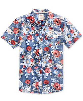 Levi's® Men's Castillo Floral-Print Cotton Shirt - Casual Button ...