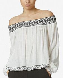 Avec Les Filles Off-The-Shoulder Embroidered Top