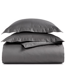AQ Textiles Bergen King 3-Pc Duvet Set, 1000 Thread Count 100% Egyptian Cotton