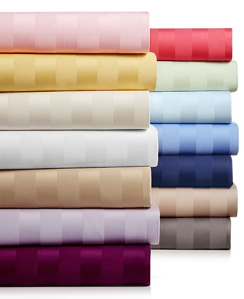 Charter Club CLOSEOUT! Stripe Standard Pillowcase Set, 550 Thread Count 100% Supima Cotton, Created for Macy's