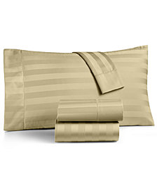 Charter Club Damask Stripe Extra Deep Pocket Queen 4-Pc Sheet Set, 550 Thread Count 100% Supima Cotton, Created for Macy's