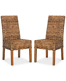 Wendale Set of 2 Wicker Side Chairs, Quick Ship