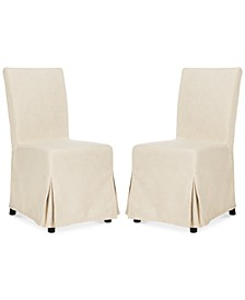Oreton Set of 2 Slip Cover Dining Chairs