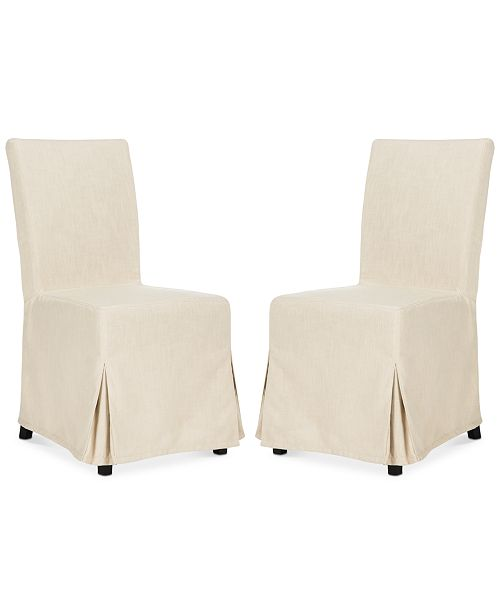 Furniture Oreton Set of 2 Slip Cover Dining Chairs, Quick Ship