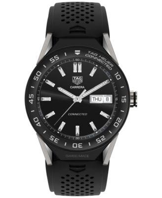 Modular Connected 2.0 Men's Swiss Black Rubber Strap Smart Watch 45mm SBF8A8001.11FT6076