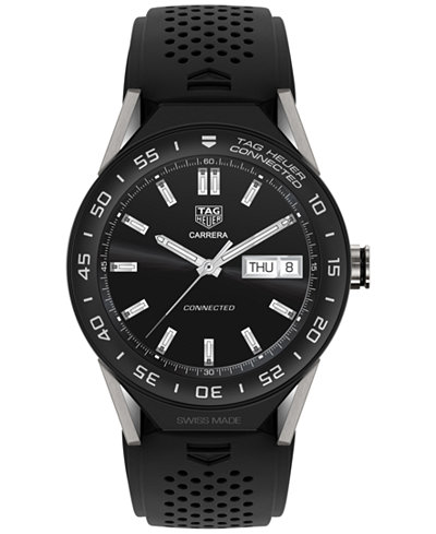 TAG Heuer Modular Connected 2.0 Men's Swiss Black Rubber Strap Smart Watch 45mm SBF8A8001.11FT6076