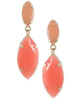 abs by allen schwartz goldtone marquise stone drop earrings