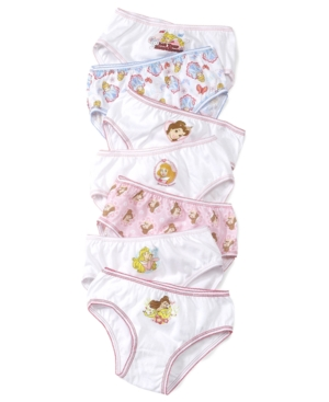 Disneys Princesses 7Pack Cotton Underwear Little Girls  Big Girls