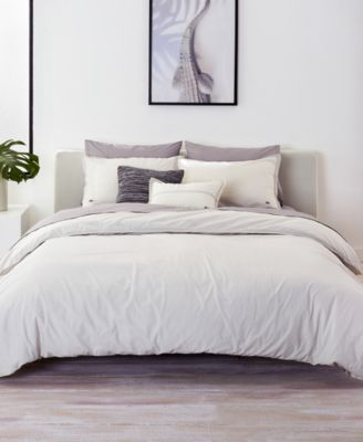 CLOSEOUT! Relaxed & Washed Solid Vapor Twin/Twin XL Duvet Cover Set