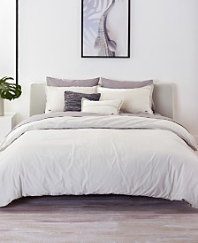 CLOSEOUT! Lacoste Home Relaxed & Washed Solid Vapor Gray Bedding Collection