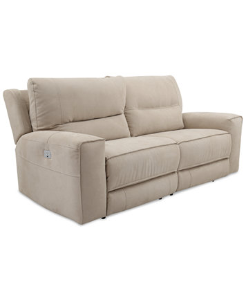 Genella 83 Quot Power Reclining Sofa With Power Headrest And