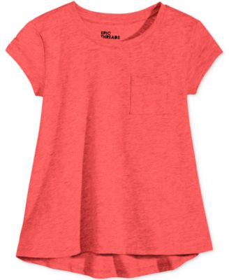 Image of Epic Threads Crewneck High-Low T-Shirt, Toddler & Little Girls (2T-6X), Only at Macy's